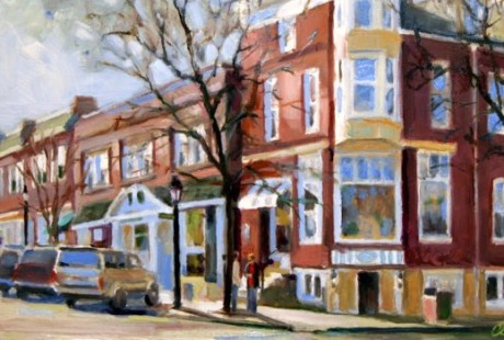 Painting Downtown Hinsdale
