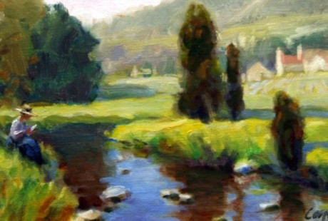 Oil Painting French Countryside