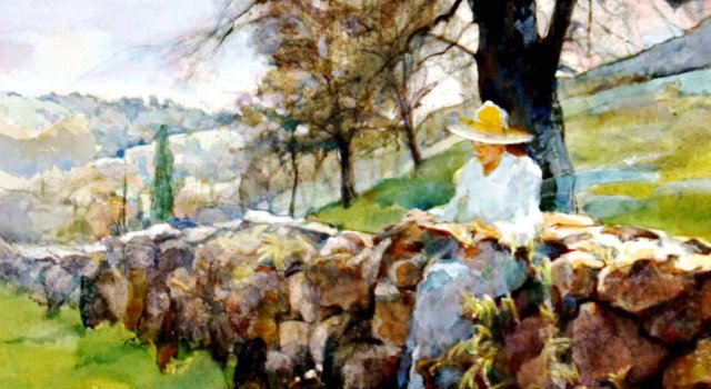 Paintings of the French Countryside & Italian Villas