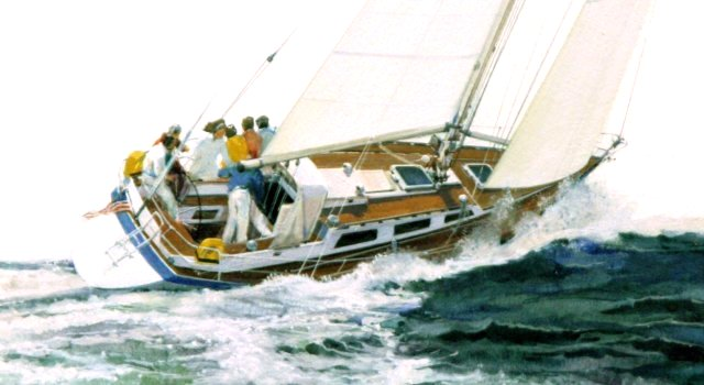 Sailboat Art Illustration